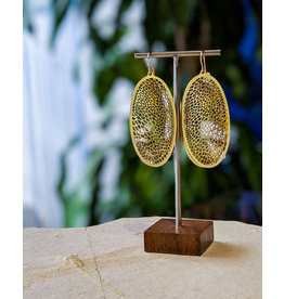Nervous System Corollaria Capsule Brass Earrings