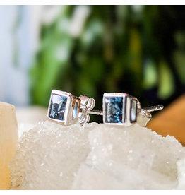 Sanchi and Filia P Designs London Blue Topaz Stud Earrings 5mm