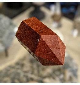 Red Goldstone Point Pillar 55x33x30mm 81g