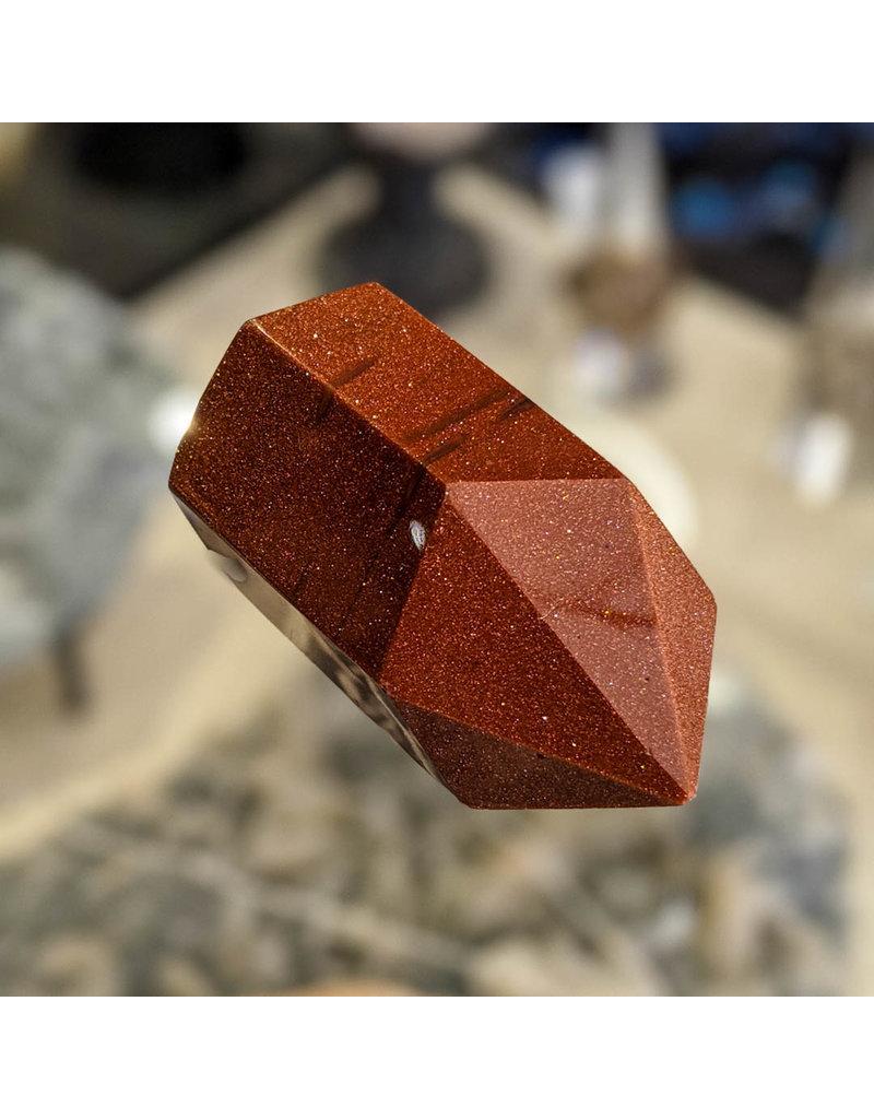 Red Goldstone Point Pillar 55x33x30mm 81g