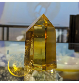 Citrine Point Pillar 60x35x35mm 105g