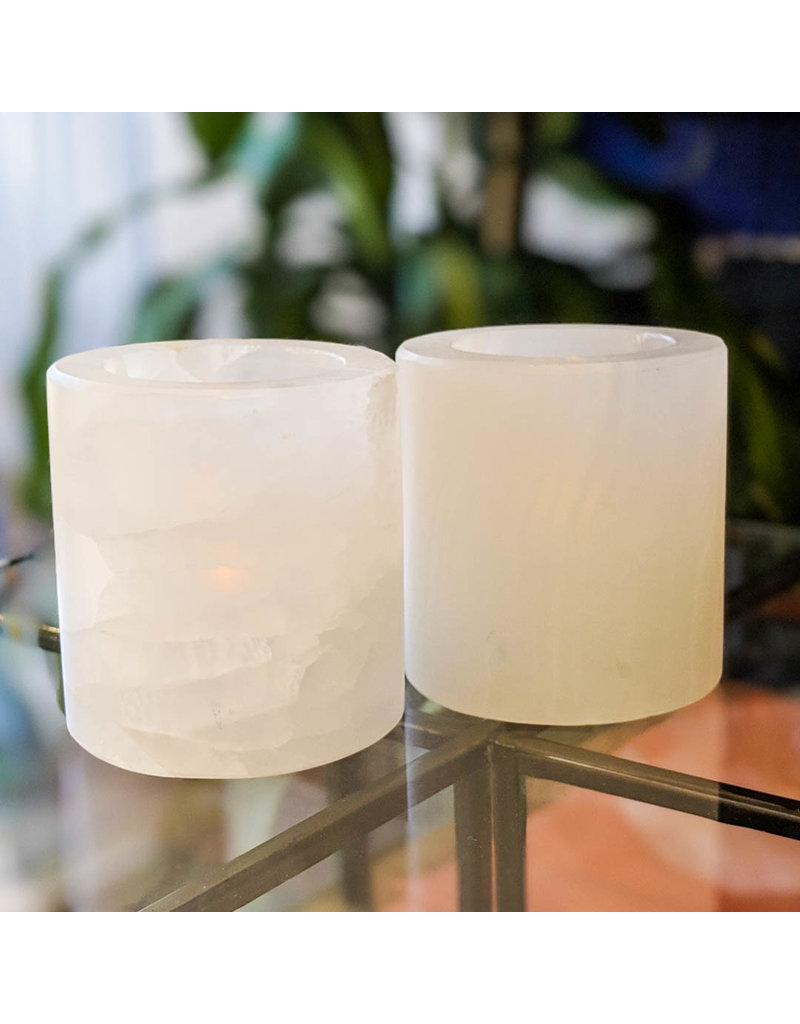 Mexican Onyx Round Candle Holder
