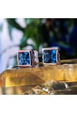Sanchi and Filia P Designs London Blue Topaz Stud Earrings 6mm
