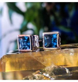 London Blue Topaz Stud Earrings 6mm