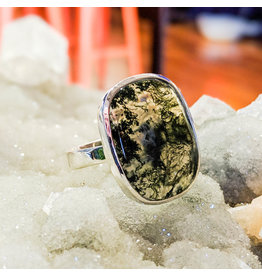 Sanchi and Filia P Designs Moss Agate Ring 9