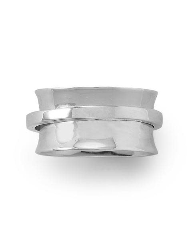 Rhodium-plated Spinner Ring