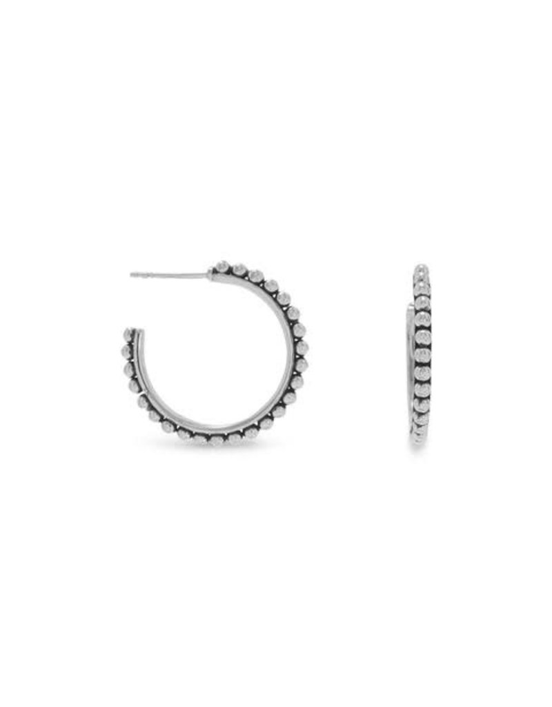 Three-Quarter Ball Hoop Earrings 27mm