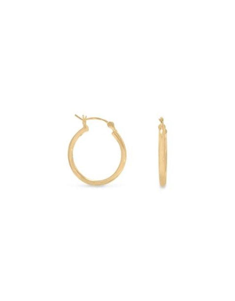 Gold-plated Hoop Earrings 2mm