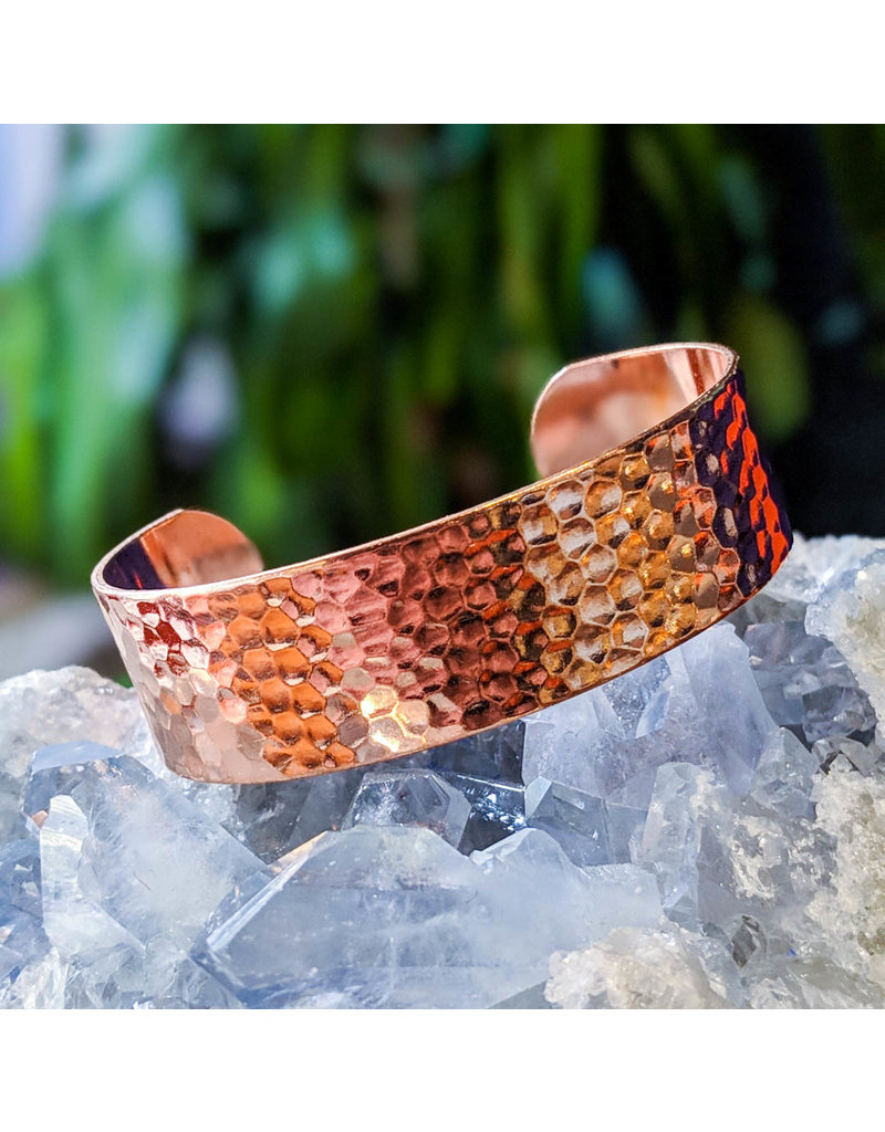 Hammered Copper Cuff Bracelet