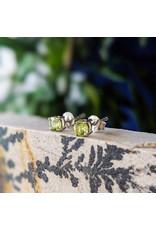 Sanchi and Filia P Designs Peridot Stud Earrings 4mm
