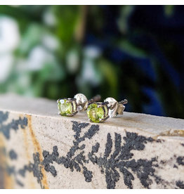 Peridot Stud Earrings 4mm