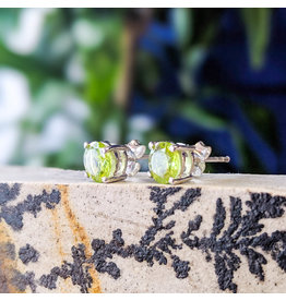 Sanchi and Filia P Designs Peridot Stud Earrings 6mm