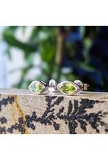 Sanchi and Filia P Designs Peridot Stud Earrings 9x4mm