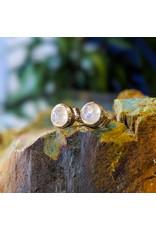 Sanchi and Filia P Designs Rainbow Moonstone Stud Earrings 5mm