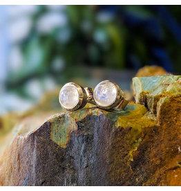 Rainbow Moonstone Stud Earrings 5mm