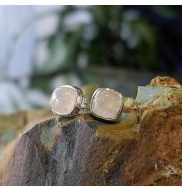 Rainbow Moonstone Stud Earrings 6mm