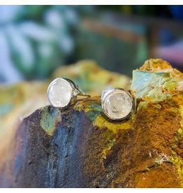 Sanchi and Filia P Designs Rainbow Moonstone Stud Earrings 6mm