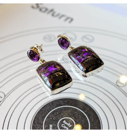 Sanchi and Filia P Designs Sugilite Amethyst Earrings
