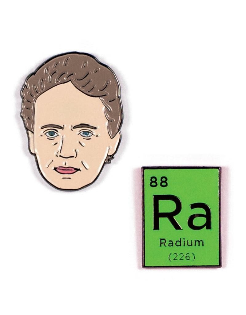 The Unemployed Philosophers Guild Marie Curie & Radium Pins