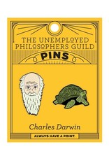 The Unemployed Philosophers Guild Charles Darwin & Galápagos Tortoise Pins