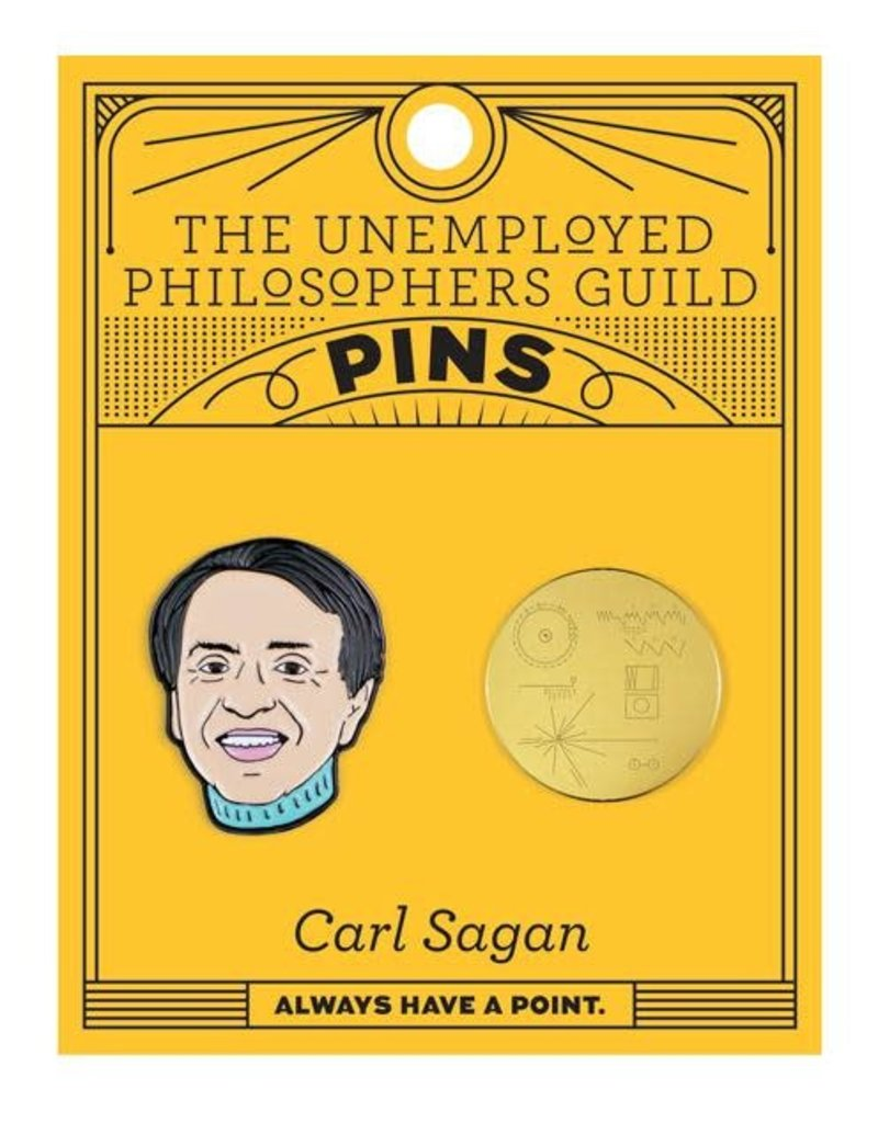 The Unemployed Philosophers Guild Carl Sagan & Golden Record Pins