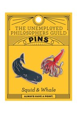 The Unemployed Philosophers Guild Squid & Whale Pins