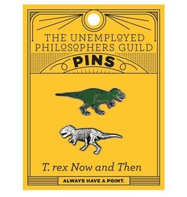 The Unemployed Philosophers Guild T. Rex & T. Rex Fossil Pins