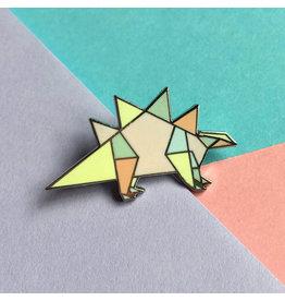 ThriftBoxUK Stegosaurus Dinogami Pin