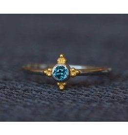 Ambica New York Blue Topaz Ring 7