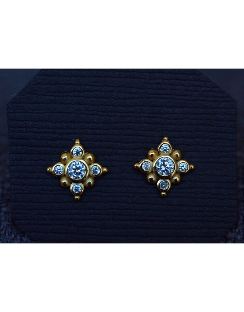Ambica New York Cubic Zirconia Stud Earrings