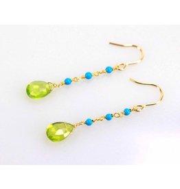 Ambica New York Peridot Turquoise Earrings