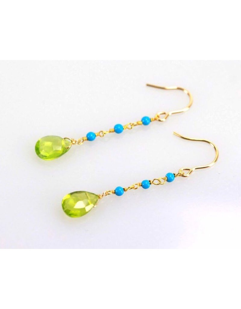 Ambica New York Peridot Turquoise Earrings