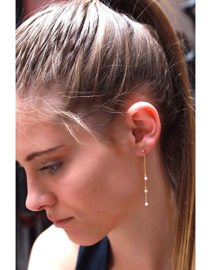 Ambica New York Pearl Chain Earrings