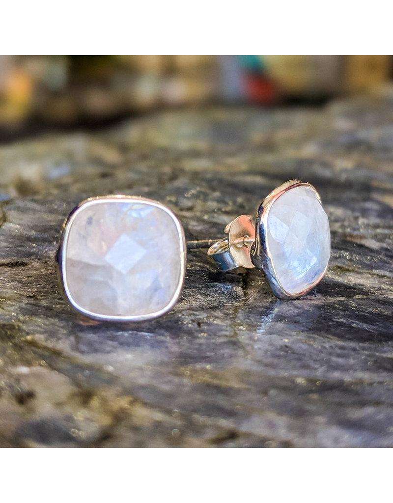 Chalisa Jewelry Moonstone Stud Earrings