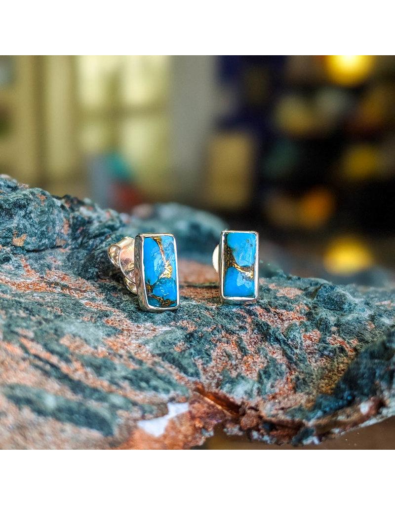 Turquoise Copper Stud Earrings
