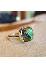 Abalone Prasiolite Doublet Ring 7