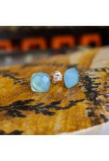 Chalisa Jewelry Chalcedony Stud Earrings