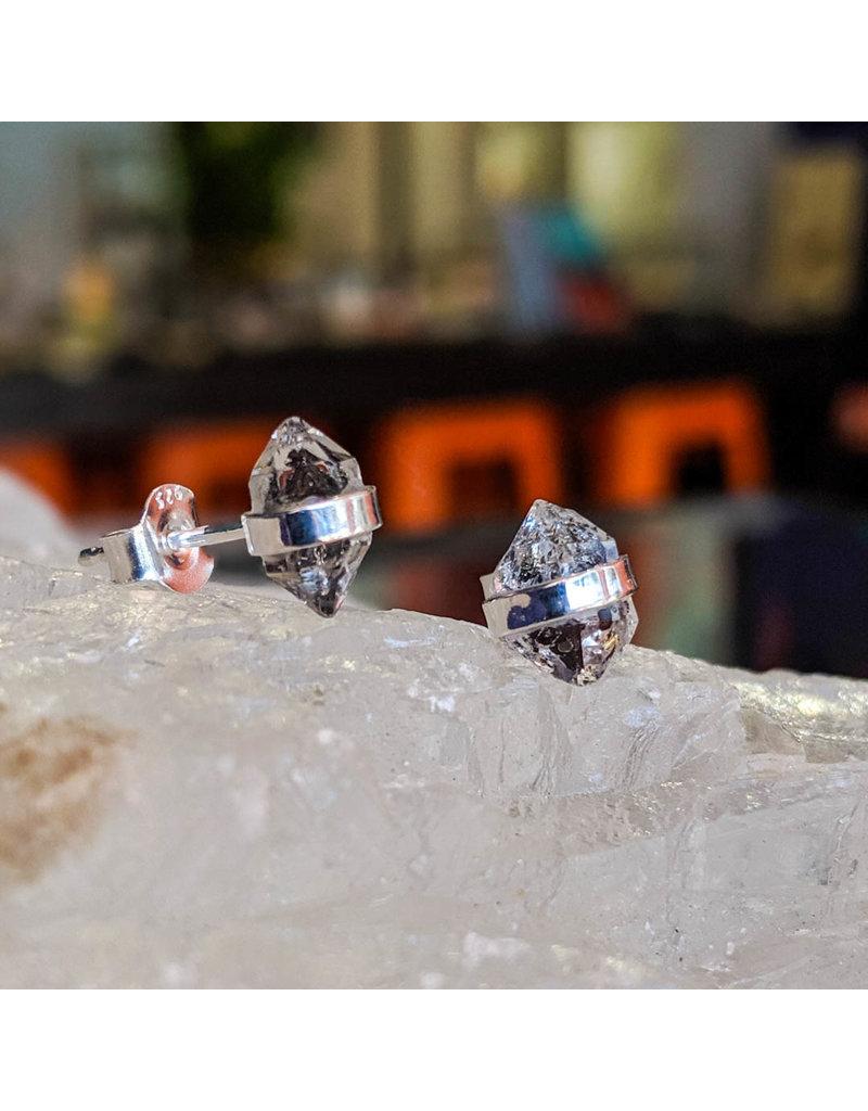 Herkimer Quartz Stud Earrings