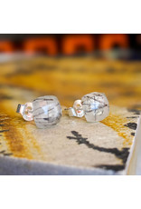Rutile Quartz Stud Earrings