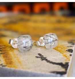 Chalisa Jewelry Rutile Quartz Stud Earrings