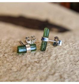 Tourmaline Pencil Stud Earrings