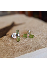 Tourmaline Pencil Stud Earrings