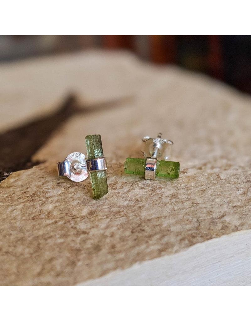 Chalisa Jewelry Tourmaline Pencil Stud Earrings