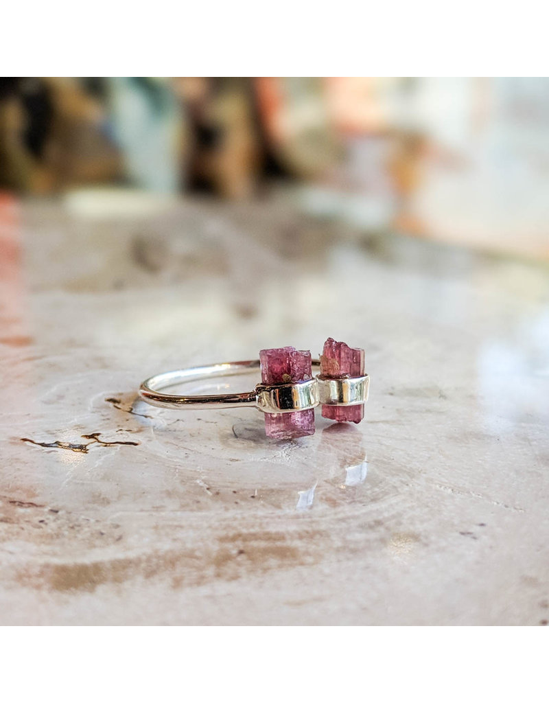 Two Tourmaline Pencil Ring
