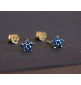 Ambica New York Flower Stud Earrings