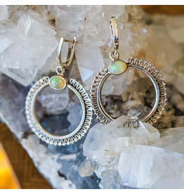 Sterling Creations Ethiopian Welo Opal Earrings