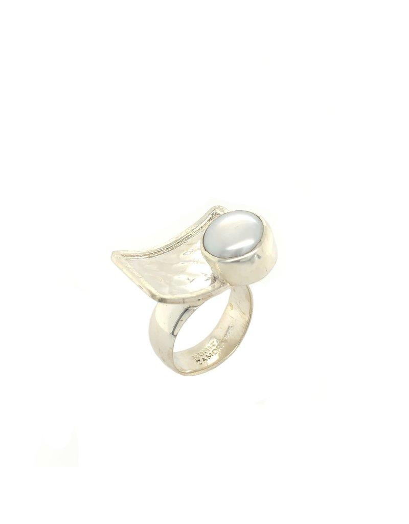 Balaam Design Offset Fresh Water Pearl Ring