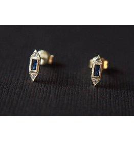 Ambica New York Art Deco Stud Earrings