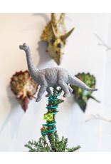 Monka! Goods Small Glittery Dinosaur Tree Topper