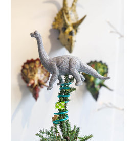 Monka! Goods Small Glittery Dinosaur Tree Topper